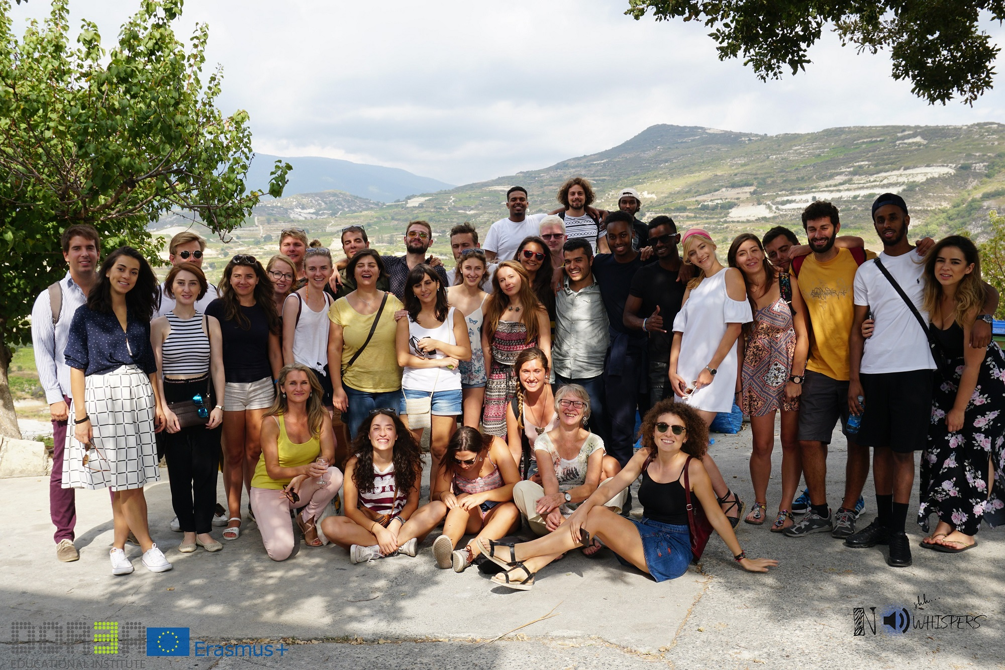 Participants during the excursion in Omodos