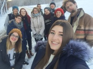 Participants outside