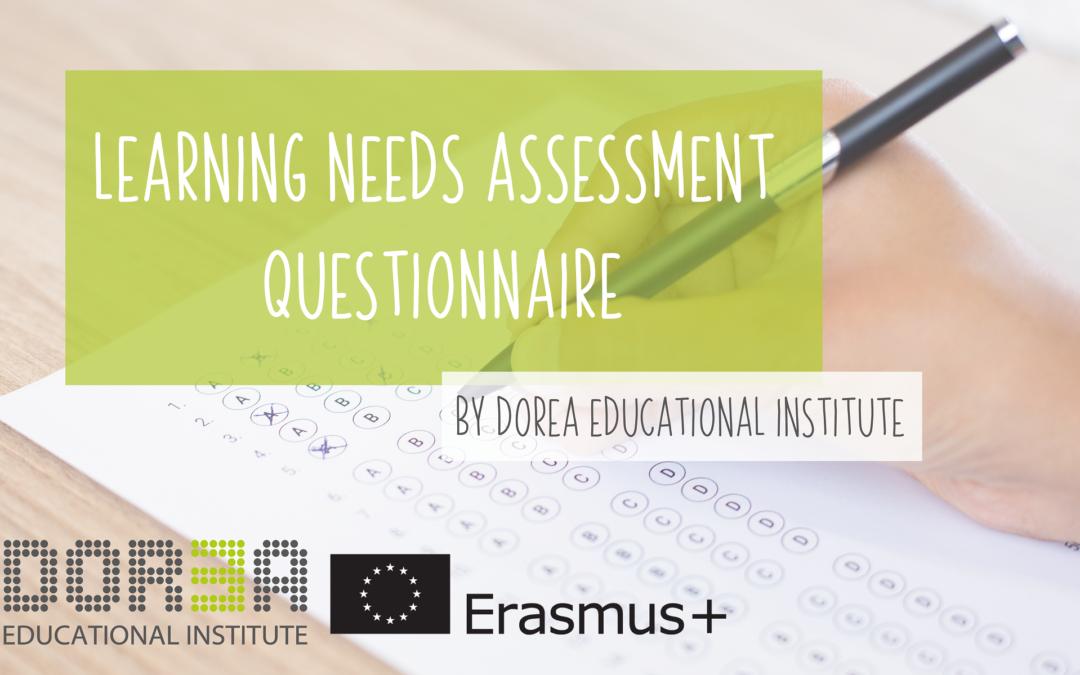 Erasmus+ staff training: Learning Needs Assessment