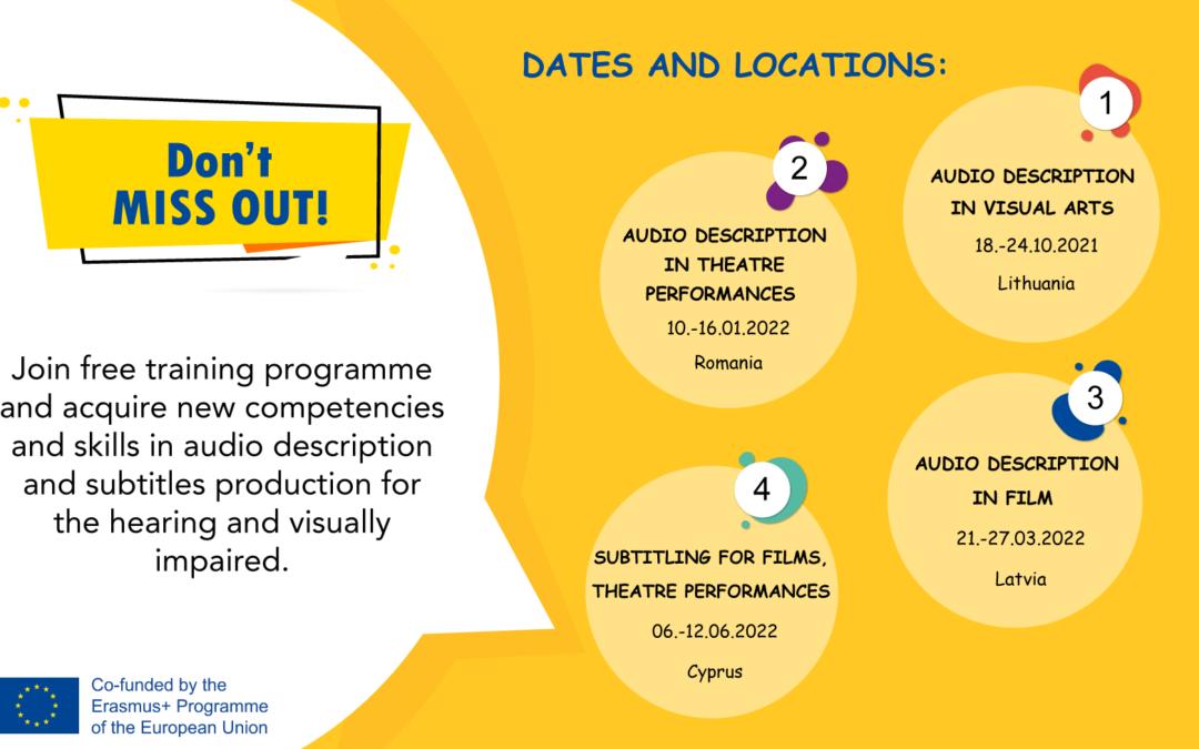 Training programme: Audio description and Subtitles
